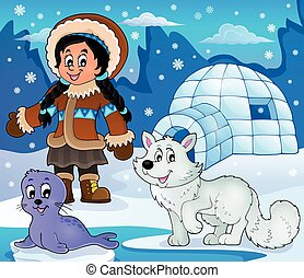 Arctic theme image 2 - eps10 vector illustration.