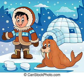 Arctic theme image 3 - eps10 vector illustration.