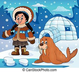 Arctic theme image 4 - eps10 vector illustration.