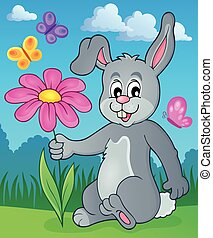 Easter bunny thematic image 2 - eps10 vector illustration