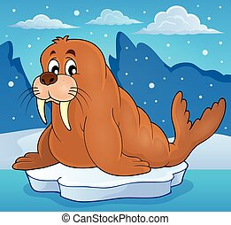 Walrus theme image 2 - eps10 vector illustration