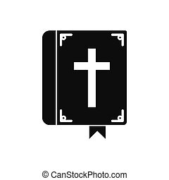 Bible single black icon - Bible single black simple icon...