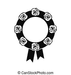 Funeral wreath black icon