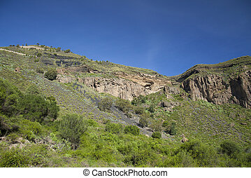 Gran Canaria, Caldera de Bandama and Pico de Bandama in...