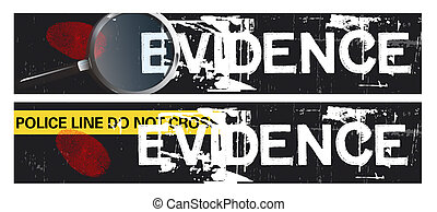 Crime Themed Banners - Two horizontal crime themed banners...