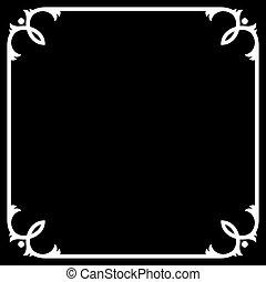 Silent Movie Black Frame with White Border Vector...