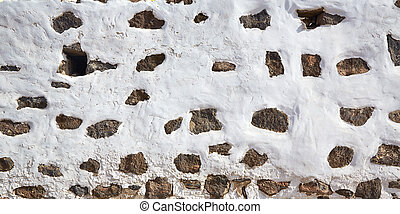 Canary Islands white wall whitewashed Spain - Canary Islands...