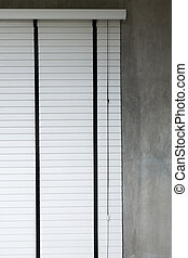 white blinds on window, design interior