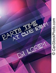 Abstract Geometric Party Poster Background Template - Vector...