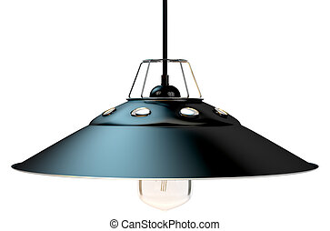 Retro Light Fitting - A retro light fitting with a lamp...