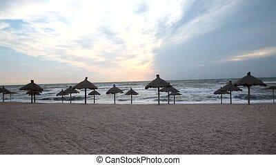empty morning beach
