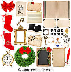 Scrapbooking elements for christmas holidays greetings card