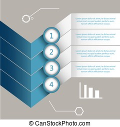 Infographic design on the grey background Eps 10 vector file...