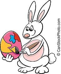 easter bunny cartoon illustration - Cartoon Illustration of...