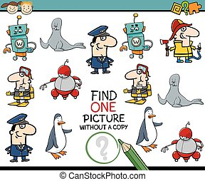 preschool educational task - Cartoon Illustration of...
