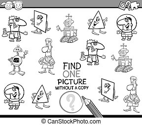 preschool task coloring book - Black and White Cartoon...