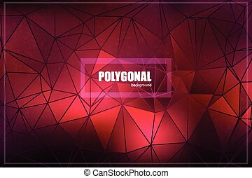 Red Gradient Mesh, Vector Illustration - Abstract triangle...