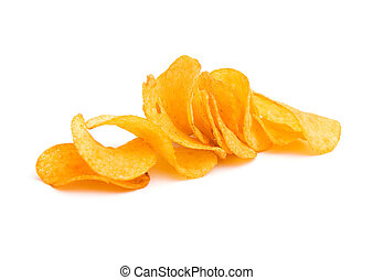 Potato chips - The image of the potato chips isolated on...