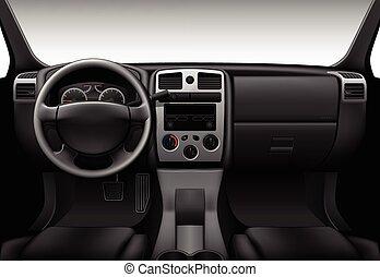 Truck interior - car dashboard