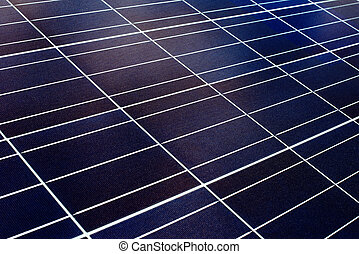 surface of the a solar panel closeup - blue surface of the...
