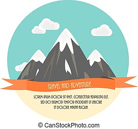 Travel and adventure. Beautiful minimal flat vector...