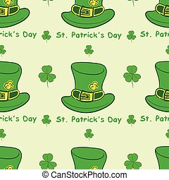 Seamless hats St. Patrick's Day - Seamless texture with hats...
