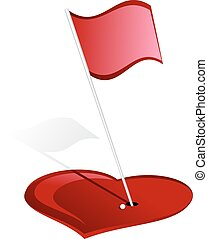 Golf Heart Hole - For Valentines Day, a golf green made out...
