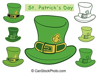 Clipart with Saint Patricks hats - Clipart with green hats...