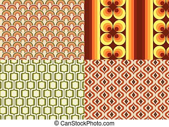 Seventies wallpapers - Vector illustration of differents...
