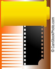 film roll - Illustration of a film roll