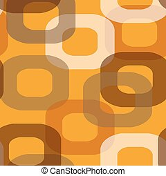 Seamless retro orange pattern - Seamless retro pattern donut...