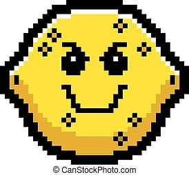 Evil 8-Bit Cartoon Lemon - An illustration of a lemon...