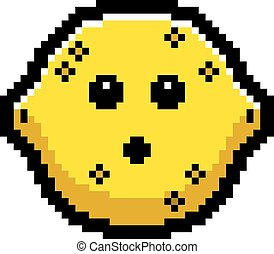 Surprised 8-Bit Cartoon Lemon - An illustration of a lemon...