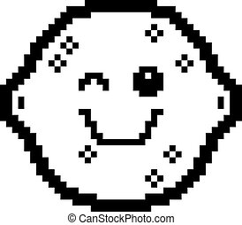 Winking 8-Bit Cartoon Lemon - An illustration of a lemon...