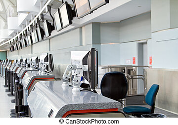 Check-in counter at airport