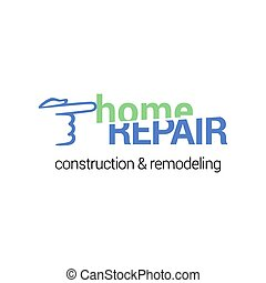 Repair service vector logotype