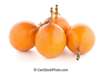 Granadilla on white background.