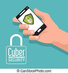 Cyber Security design - Cyber concept with security design,...