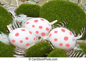 Unicorn eggs - Very rare nest with pink spotted unicorn eggs...