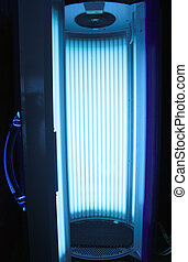 Vertical solarium - Opened vertical solarium for getting a...