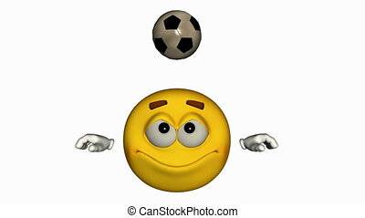 Looping Emoticon Animation: soccer