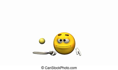 Looping Emoticon Animation: tennis