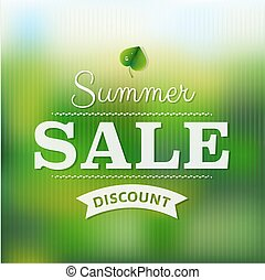 Summer Sale Poster With Blur