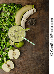Delicious green smoothie