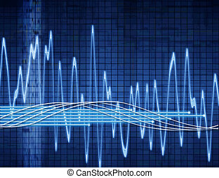 abstract sound wave - great abstract background audio or...