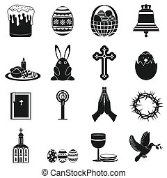 Easter black simple icons