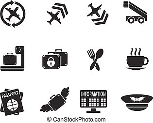 Airport icon set - Airport simply icons for web and user...