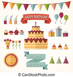 Party elements - Vector Illustration of party elements:...