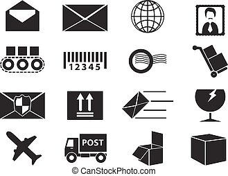 Post service icons set
