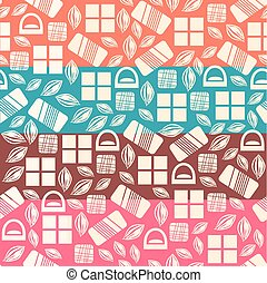 Set of seamless pattern with chocolate sweets
